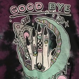 XL TEEN HEARTS Tie-dye Ouija Shirt